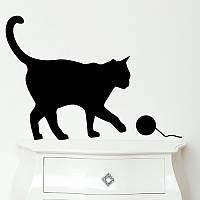 Виниловая наклейка на авто - Кошка 1, фото 1