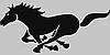 Виниловая наклейка на авто - Лошадь