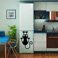 Виниловая наклейка на холодильник - котик