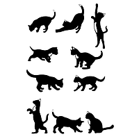 Виниловая наклейка на холодильник - коты, фото 1