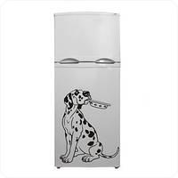 Виниловая наклейка на холодильник - собака, фото 1