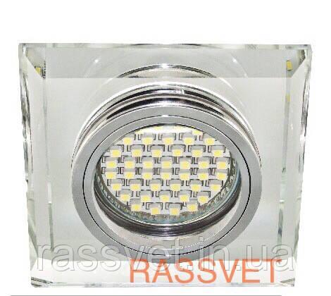 Светильник с декоративного стекла квадратный,зеркальный