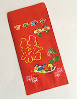 Конверт для денег символ двойное счастье + утки-мандаринки