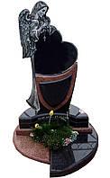"""Памятник гранитный ритуальный """"Сердце с Ангелом"""""""