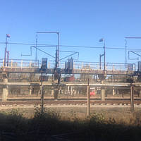 Железнодорожный с слив из железнодорожных цистерн в резервуары через систему устройств и приспособлений в резе