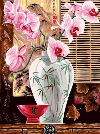 Раскраска по номерам Восточные орхидеи, фото 2