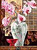 Раскраска по номерам Восточные орхидеи