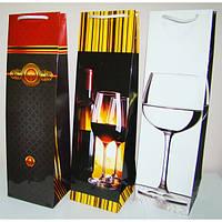 Пакет подарочный для бутылки WB-1201 (40*11.5*10) в ассортименте