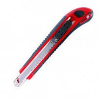 Нож с 3-мя отломными лезвиями 18 мм, металлическая направляющая, противоскользящий корпус, INTERTOOL HT-0508