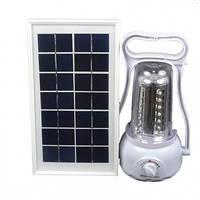 Фонарь кемпинговый  Power Bank  внешняя солнечная панель (LED 35, регул. яркости, 220V)