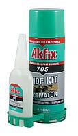 Akfix 705 клей с активатором для экспресс склеивания (100мл+25мл)