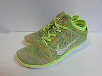 Кроссовки женские Nike FREE 5.0 (014) салатовые с белым код 961А