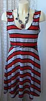Платье женское модное демисезонное акрил мини бренд Lon Don Collection р.46 5653а, фото 1