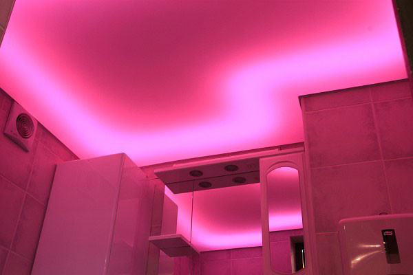 Светящиеся натяжные потолки