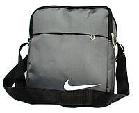 Спортивная серая мужская сумка в стиле Nіkе