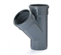 Тройник ПВХ внутренней канализации Armakan 110x110/45°