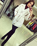 Женское демисезонное кашемировое пальто (расцветки), фото 2