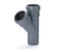 Тройник ПВХ внутренней канализации Armakan 50x50/45°