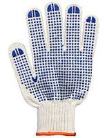 Перчатки трикотажные с ПВХ точкой
