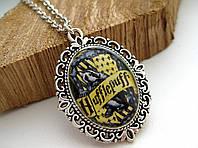 Кулон Значок Хаффлпафф из Гарри Поттера, Медальон на цепочке (ручная работа)