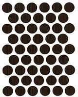 Конфирмат заглушка Венге (орех Канада) самоклеющаяся 7104 (50 шт) 14 мм