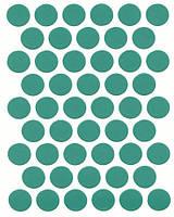 Конфирмат заглушка зеленая  самоклеющаяся 0412 (50 шт)