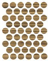 Конфирмат заглушка кордоба светлая (оливка )самоклеющаяся 3510 (50 шт) 14 мм