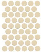 Конфирмат заглушка крем самоклеющаяся 0325 (50 шт) 14 мм