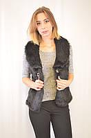 Красивая  и стильная,  дешевая меховая женская жилетка