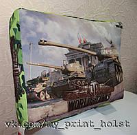 Подушка  World of tanks 45*32*8см. печать с двух сторон.