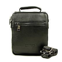 Практичная и удобная мужская кожаная сумка отличного качества, фото 2