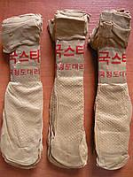 Капроновые женские носки  С тормозами. Бежевые., фото 1