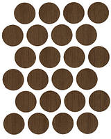 Минификс заглушка орех лесной самоклеющаяся  7226(24 шт) 20 мм