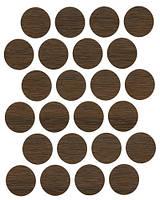 Минификс заглушка орех темный самоклеющаяся 7455 (24 шт) 20 мм