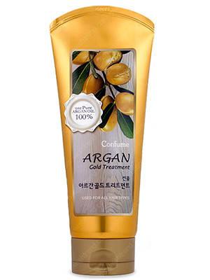 Увлажняющая маска для поврежденных волос  WELCOS CONFUME Argan Gold Treatment, 200 мл, фото 2