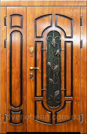 Входная дверь двух створчатая модель П3-311 vinorit-90 ПАТИНА КОВКА, фото 2