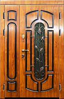 Входная дверь двух створчатая модель П3-311 vinorit-90 с патиной