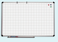 АРЕНДА Доска настенная сухостираемая для маркера O-line 90х120 см в клетку (б/у)