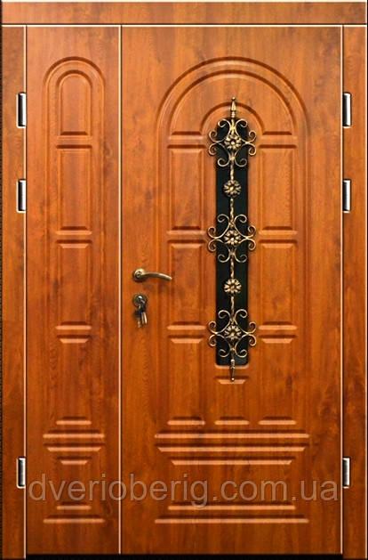 Входная дверь двух створчатая модель П3-124-1 vinoriy-90