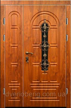 Входная дверь двух створчатая модель П3-124-1 vinoriy-90, фото 2
