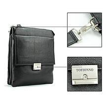 Деловая практичная мужская сумка из кожи от Итальянского бренда, фото 3