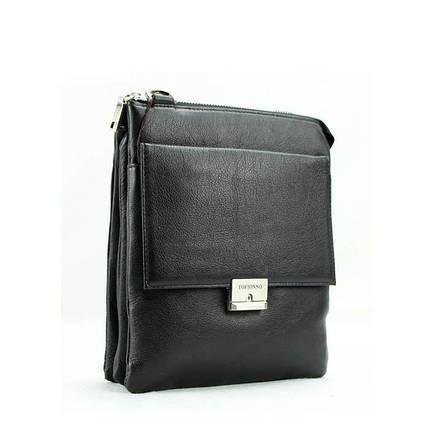 Деловая практичная мужская сумка из кожи от Итальянского бренда, фото 2