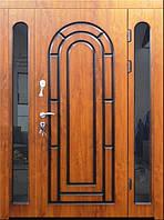 Входная дверь трех створчатая модель П3-164 vinoriy-90 в патине