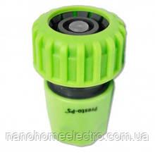 Коннектор со стопом для шланга 1/2-5/8 (green)
