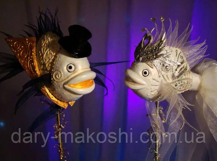 """Рыбки """"Свадебная композиция"""""""