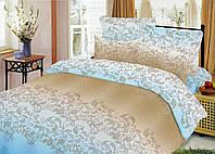 Двухспальный набор постельный (рисунок Сплетение голубое)
