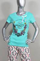 Пижама женская со штанами - Интерлок - 86362