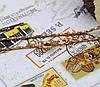 Цепочка Спиральная позолоченная, 1мм, р.45, фото 2