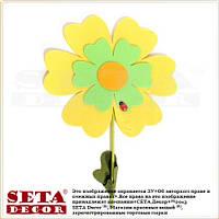 """Весенний декор жёлтый цветок """"Барвинок"""" на палочке для украшения помещений"""