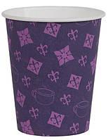 Бумажные стаканчики фиолетовые 185 мл